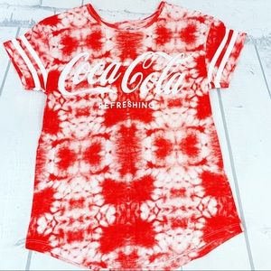 Coca Cola Red Tie Dye Short Sleeve T-shirt Size XS